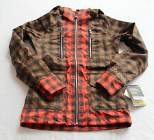 BURTON Womens BROWN PLAID 3L 20k mm/ 15k g  ZEPHYR SNOWBOARD JACKET NWT XS $350