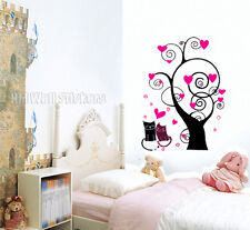LOVE HEAR TREE & KITTIES KIDS Removable Wall Stickers for kids room or nursery