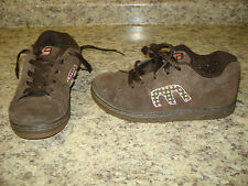 ETNIES TODDLER GIRLS ATHLETIC SHOES SIZE 1.5 BROWN PINK