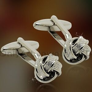 Silver Knot Cufflinks, with gift box, free postage to the UK