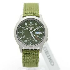 Seiko 5 SNK805K2 Automatic Military Green Nylon Strap Analog Unisex Watch