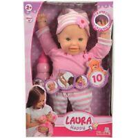 Simba Weichkörperpuppe Laura Happy Baby ca. 38 cm mit 10 Sound Puppe