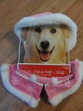 dog Halloween Bride costume & /winter design pajamas & Mrs Claus hat/ruff medium