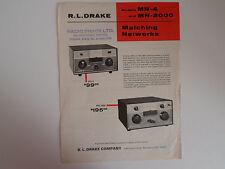 DRAKE MN-4/MN-2000 (GENUINE LEAFLET ONLY)..............RADIO_TRADER_IRELAND.