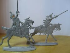 VINTAGE SET (2) OF NAPOLEONIC FLAT LEAD SOLDIERS '' FRENCH CURASSIERS 1808 ''
