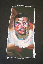 """SIGNED by Miguel Angel Reyes: Small Oil Painting on Paper """"Untitled"""" 1999 FRAMED"""