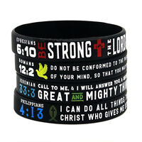 1pc Fashion Sport Strong Wristbands Men Bracelet Silicone Band Bangle