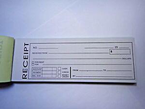 Carbonless Cash Money Rent receipt record book 2 part 50 sets duplicate copy