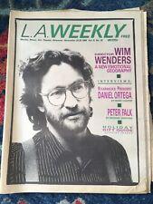 Nov 1984 L.A. Weekly - Wim Wenders Cover Vintage Los Angeles Punk New Wave