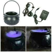 Cauldron Halloween Mister Mist Smoke Fog Machine Color Best Changing Prop E5L4