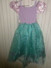 Disney Store Princess ARIEL Mermaid Costume Dress Small 5/6 NEW