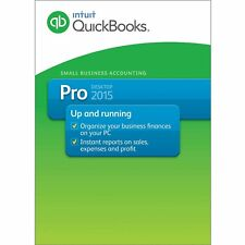Quickbooks Pro 2015 Windows US Edition with CD/DVD Rom with download option