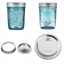 Ball Regular Mouth Elite Collection Half Pint Mason Jars with Lids and Bands, 8-