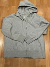 Nike Men's Full-Zip Hoodie Sweatshirt Gray Size LARGE