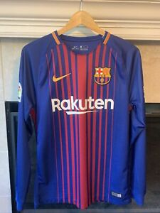 Nike Lionel Messi Barcelona Jersey Long 2017 S Argentina Adidas Copa Euro Neymar