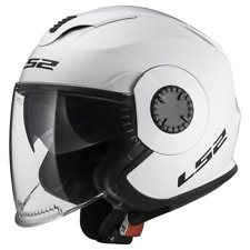 Ls2 casco moto Jet Of570 verso mono Gloss blanco S