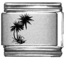 Clearly Charming Palm Trees Laser Italian Charm