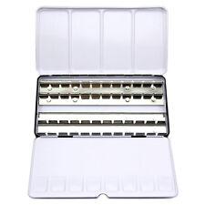 12/24/48 Blocks Empty Watercolour Paint Tin box Metal Case Full Pans / Half Pans