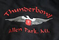 VTG Holloway Thunderbowl Allen park MI Letterman Jacket 2XL XXL Leather