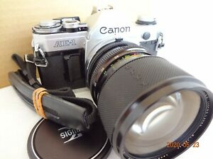 Canon AE-1 35mm SLR Camera w/SigmaXQ 39-80/f3.5 lens,strap from Japan Exc+++2417