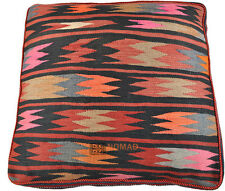 Orient Kelim Pouf coussins de sol Coussin de siège 100% laine 70 x 70 x 15 cm