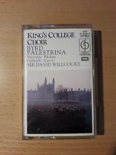 KING'S COLLEGE CHOIR BYRD PALESTRINA SIR DAVID WILLCOCKS CASSETTE ALBUM VICTORIA