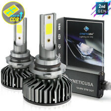 Syneticusa HB4 9006 LED Headlight Bulb Fog Light Kit 6000K White Low Beam 5000lm