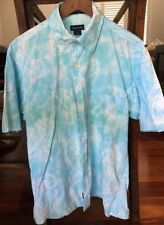 Cotton Blend Paisley Long Sleeve Button-Front Casual Shirts for Men