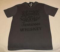 Jack Daniels Nostalgic Mens Graphite Printed Short Sleeve T Shirt Size L New