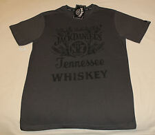 Jack Daniels Nostalgic Mens Graphite Printed Short Sleeve T Shirt Size XXL New