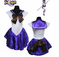 Sailor Moon Saturn Costume Fancy Purple Dress for Anime Cosplay Halloween Party