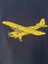 LARGE Embroidered Piper J3Cub on Navy T-Shirt