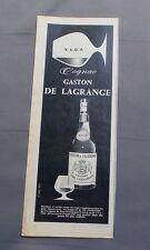 PUB PUBLICITE ANCIENNE ADVERT CLIPPING 23617 / COGNAC GASTON DE LAGRANGE VSOP