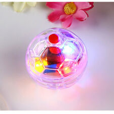 Plastic Clear Pet Dog Cat Supplies Light up Ball Activity Interactive Toy Funny