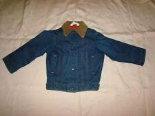 Vintage KEY IMPERIAL KIDS INSULATED DENIM JEAN JACKET Corduroy Collar