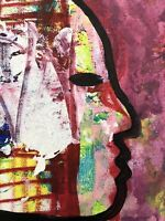 Hasworld Original,painting,signed,Pop Art,Impressionism,abstract Head street art