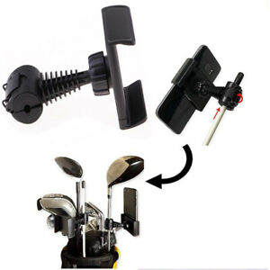 360 Degree Rotatable Golf Swing Recording Phone Holder Pull Cart Mount Clip