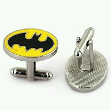 Cuff links Batman mask dark knight. wedding prom groom birthday free gift box