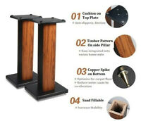 60-90CM Wooden Speaker Stands Home Theatre 3D Stereo 360° Surround Sound Support