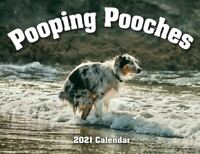 2021 Pooping Pooches Dog Calendar, White Elephant Gag Gift Exchange Yankee Swap
