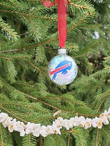 Buffalo Bills Glass Ornament - custom made, we can make other teams also