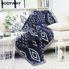 Geometry Throw Blanket Sofa  Decorations Home Non-slip Stitching Plaid Blankets