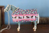 Peter Stone/Breyer Model Horses Multicolor Floral Blanket w Horse Ribbon