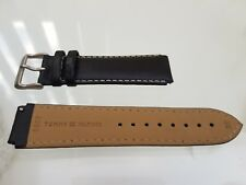 Genuine New TOMMY HILFIGER watch Replacement Black Leather Strap +Buckle 20mm(15