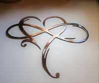 "Infinity Heart Metal Wall Art --Always & Forever Infinity  10 3/4"" x 12 1/4"""