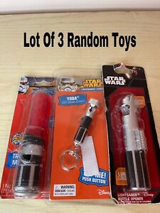 Imperial Disney STAR WARS Random Lightsabers LOT Of 3 Bubbles/Bottle OpenersC#57