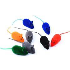1Pcs Random Color Cat Toy Fun Plush Mouse Cat Toy For Kitten Artificial Colorful
