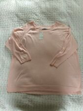 BNWT £34 PER UNA knitted Cotton Top-size 24. Powder Pink