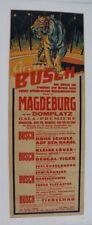 CIRQUE AFFICHE ORIGINALE CIRCUS POSTER BUSH 1956 TIGRE TIGER