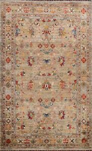 Floral Vegetable Dye Ziegler Oriental Area Rug Classic Hand-knotted 6'x9' Carpet